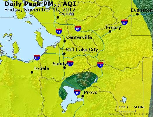 Peak Particles PM<sub>2.5</sub> (24-hour) - http://files.airnowtech.org/airnow/2012/20121116/peak_pm25_saltlakecity_ut.jpg