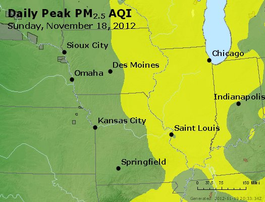 Peak Particles PM<sub>2.5</sub> (24-hour) - http://files.airnowtech.org/airnow/2012/20121118/peak_pm25_ia_il_mo.jpg