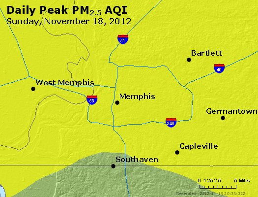 Peak Particles PM<sub>2.5</sub> (24-hour) - http://files.airnowtech.org/airnow/2012/20121118/peak_pm25_memphis_tn.jpg