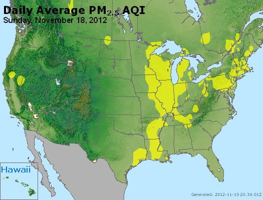 Peak Particles PM<sub>2.5</sub> (24-hour) - http://files.airnowtech.org/airnow/2012/20121118/peak_pm25_usa.jpg