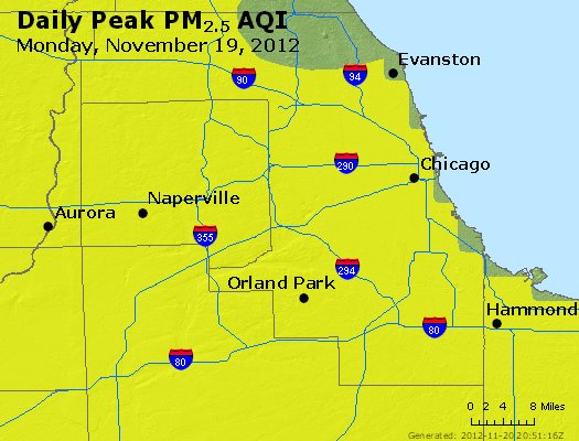 Peak Particles PM<sub>2.5</sub> (24-hour) - http://files.airnowtech.org/airnow/2012/20121119/peak_pm25_chicago_il.jpg