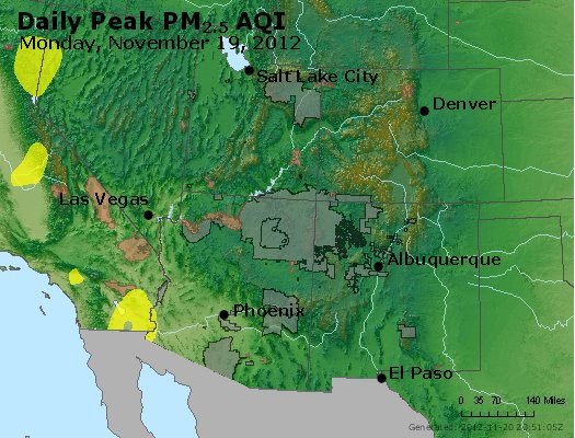 Peak Particles PM<sub>2.5</sub> (24-hour) - http://files.airnowtech.org/airnow/2012/20121119/peak_pm25_co_ut_az_nm.jpg