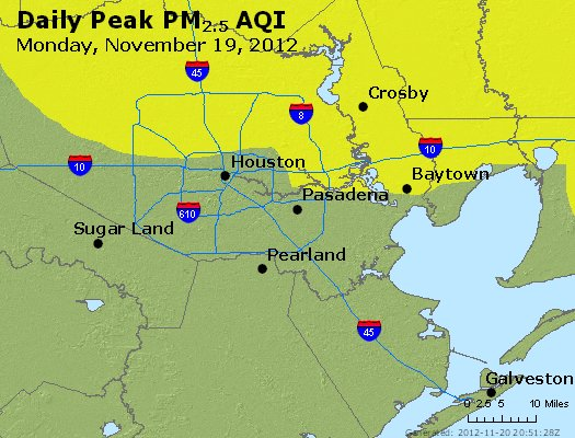 Peak Particles PM<sub>2.5</sub> (24-hour) - http://files.airnowtech.org/airnow/2012/20121119/peak_pm25_houston_tx.jpg