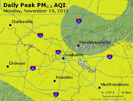 Peak Particles PM<sub>2.5</sub> (24-hour) - http://files.airnowtech.org/airnow/2012/20121119/peak_pm25_nashville_tn.jpg