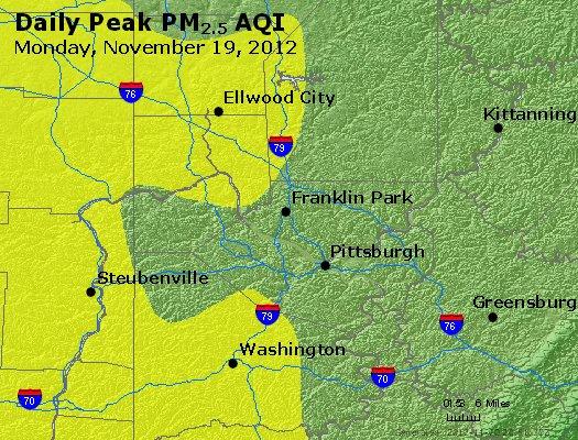 Peak Particles PM<sub>2.5</sub> (24-hour) - http://files.airnowtech.org/airnow/2012/20121119/peak_pm25_pittsburgh_pa.jpg