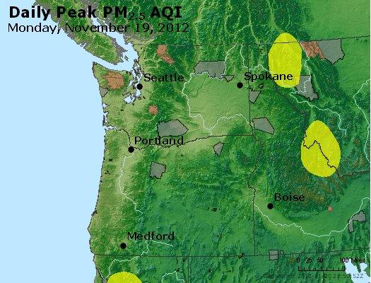 Peak Particles PM<sub>2.5</sub> (24-hour) - http://files.airnowtech.org/airnow/2012/20121119/peak_pm25_wa_or.jpg