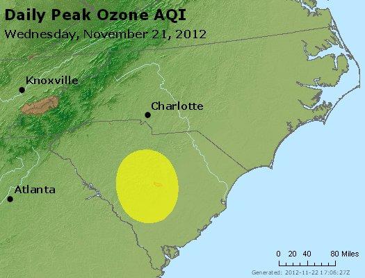 Peak Ozone (8-hour) - http://files.airnowtech.org/airnow/2012/20121121/peak_o3_nc_sc.jpg