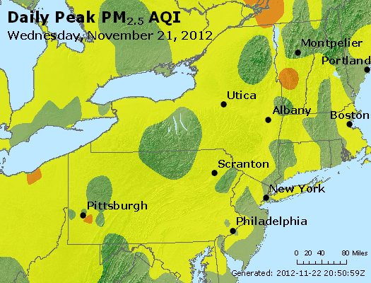 Peak Particles PM<sub>2.5</sub> (24-hour) - http://files.airnowtech.org/airnow/2012/20121121/peak_pm25_ny_pa_nj.jpg