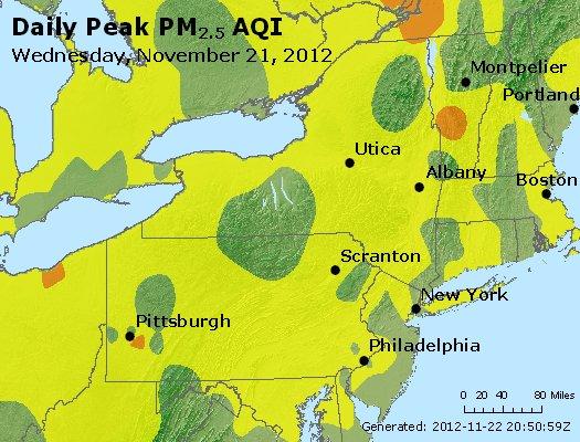 Peak Particles PM<sub>2.5</sub> (24-hour) - http://files.airnowtech.org/airnow/2012/20121121/peak_pm25_ny_pa_nj.jpg