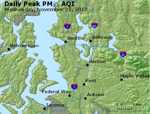 Peak Particles PM<sub>2.5</sub> (24-hour) - http://files.airnowtech.org/airnow/2012/20121121/peak_pm25_seattle_wa.jpg