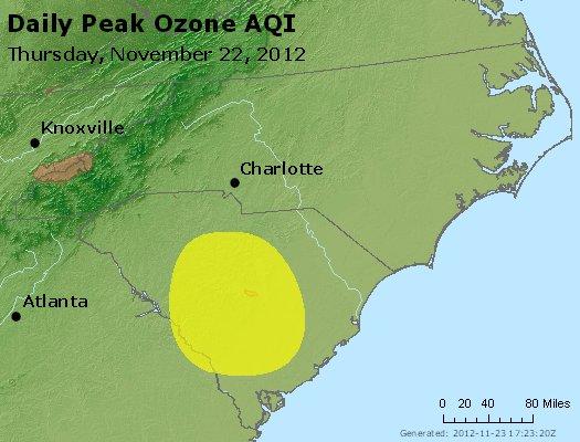 Peak Ozone (8-hour) - http://files.airnowtech.org/airnow/2012/20121122/peak_o3_nc_sc.jpg