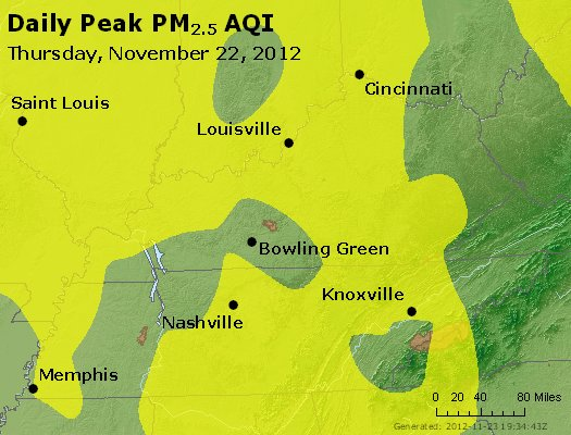 Peak Particles PM<sub>2.5</sub> (24-hour) - http://files.airnowtech.org/airnow/2012/20121122/peak_pm25_ky_tn.jpg