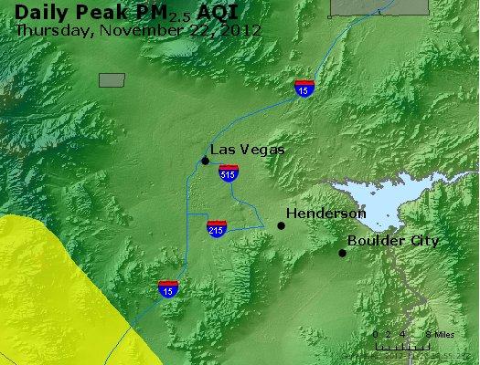 Peak Particles PM<sub>2.5</sub> (24-hour) - http://files.airnowtech.org/airnow/2012/20121122/peak_pm25_lasvegas_nv.jpg