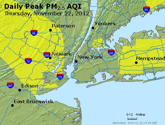 Peak Particles PM<sub>2.5</sub> (24-hour) - http://files.airnowtech.org/airnow/2012/20121122/peak_pm25_newyork_ny.jpg