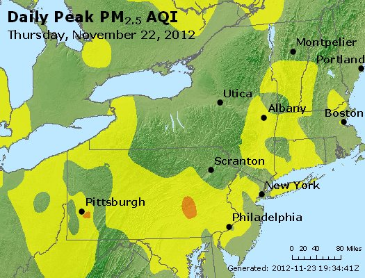 Peak Particles PM<sub>2.5</sub> (24-hour) - http://files.airnowtech.org/airnow/2012/20121122/peak_pm25_ny_pa_nj.jpg