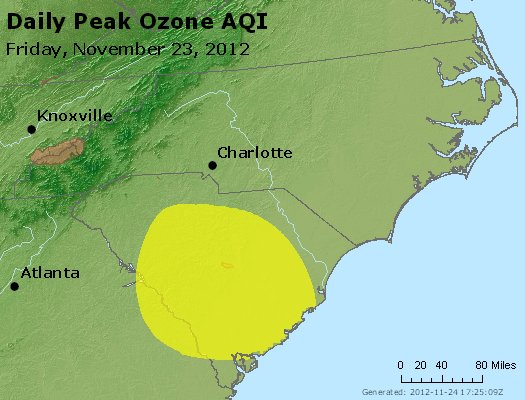 Peak Ozone (8-hour) - http://files.airnowtech.org/airnow/2012/20121123/peak_o3_nc_sc.jpg