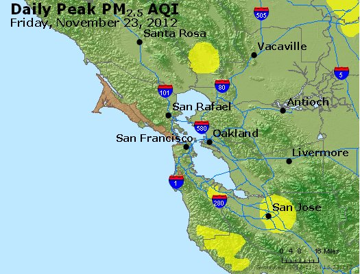 Peak Particles PM<sub>2.5</sub> (24-hour) - http://files.airnowtech.org/airnow/2012/20121123/peak_pm25_sanfrancisco_ca.jpg