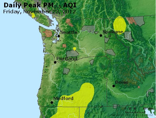 Peak Particles PM<sub>2.5</sub> (24-hour) - http://files.airnowtech.org/airnow/2012/20121123/peak_pm25_wa_or.jpg