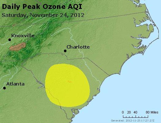 Peak Ozone (8-hour) - http://files.airnowtech.org/airnow/2012/20121124/peak_o3_nc_sc.jpg