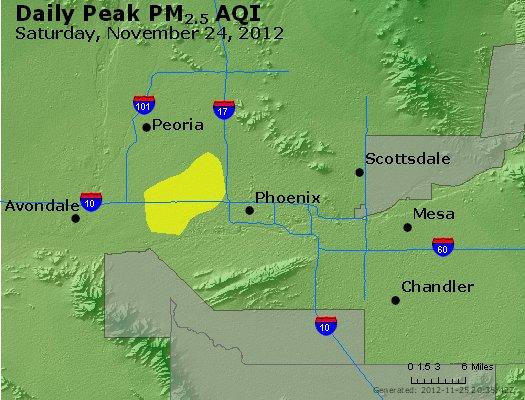 Peak Particles PM<sub>2.5</sub> (24-hour) - http://files.airnowtech.org/airnow/2012/20121124/peak_pm25_phoenix_az.jpg