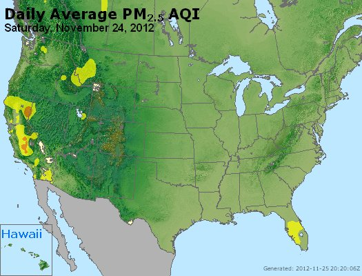 Peak Particles PM<sub>2.5</sub> (24-hour) - http://files.airnowtech.org/airnow/2012/20121124/peak_pm25_usa.jpg