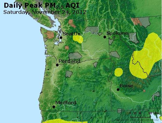 Peak Particles PM<sub>2.5</sub> (24-hour) - http://files.airnowtech.org/airnow/2012/20121124/peak_pm25_wa_or.jpg