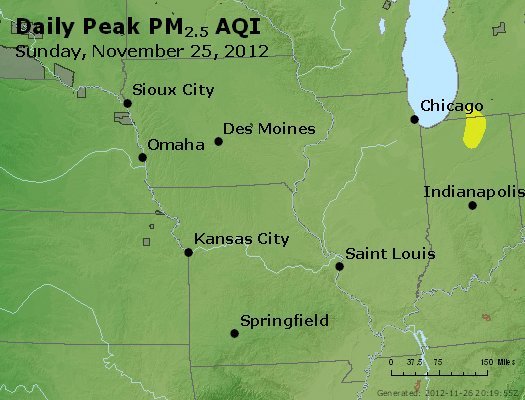 Peak Particles PM<sub>2.5</sub> (24-hour) - http://files.airnowtech.org/airnow/2012/20121125/peak_pm25_ia_il_mo.jpg
