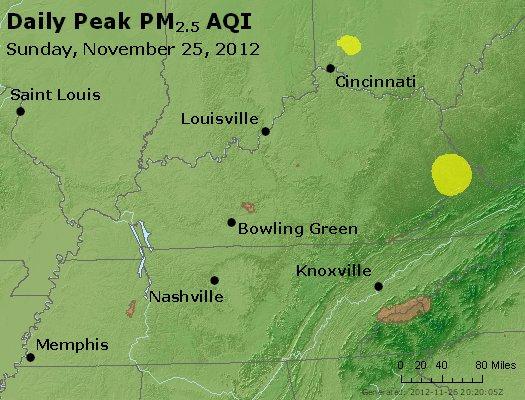 Peak Particles PM<sub>2.5</sub> (24-hour) - http://files.airnowtech.org/airnow/2012/20121125/peak_pm25_ky_tn.jpg