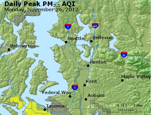 Peak Particles PM<sub>2.5</sub> (24-hour) - http://files.airnowtech.org/airnow/2012/20121126/peak_pm25_seattle_wa.jpg