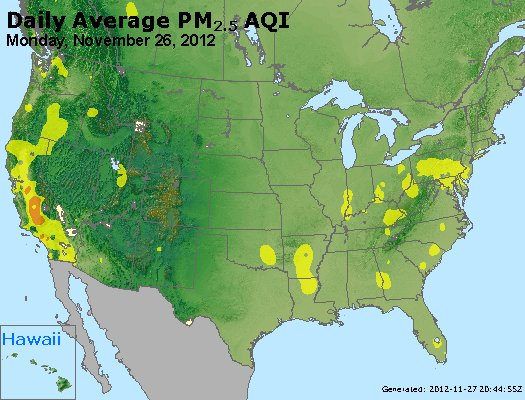 Peak Particles PM<sub>2.5</sub> (24-hour) - http://files.airnowtech.org/airnow/2012/20121126/peak_pm25_usa.jpg