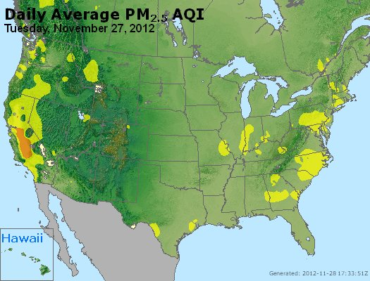 Peak Particles PM<sub>2.5</sub> (24-hour) - http://files.airnowtech.org/airnow/2012/20121127/peak_pm25_usa.jpg