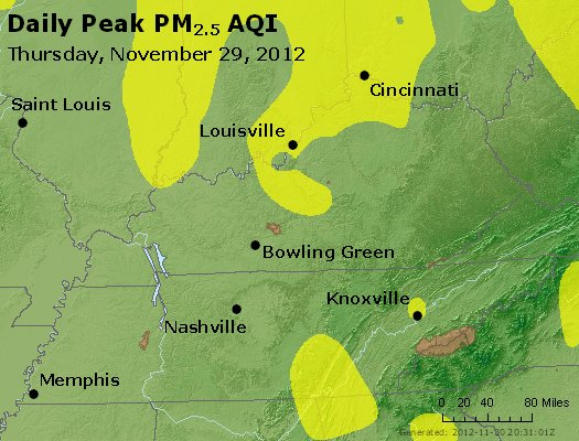 Peak Particles PM<sub>2.5</sub> (24-hour) - http://files.airnowtech.org/airnow/2012/20121129/peak_pm25_ky_tn.jpg