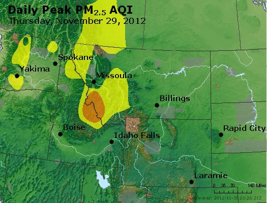 Peak Particles PM<sub>2.5</sub> (24-hour) - http://files.airnowtech.org/airnow/2012/20121129/peak_pm25_mt_id_wy.jpg