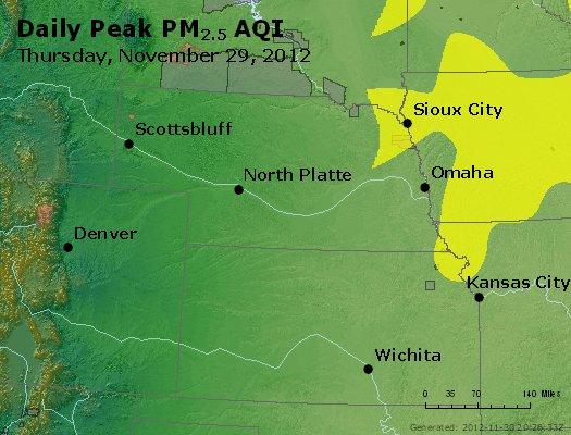 Peak Particles PM<sub>2.5</sub> (24-hour) - http://files.airnowtech.org/airnow/2012/20121129/peak_pm25_ne_ks.jpg