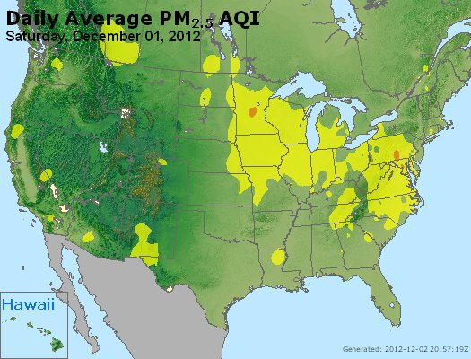 Peak Particles PM<sub>2.5</sub> (24-hour) - http://files.airnowtech.org/airnow/2012/20121201/peak_pm25_usa.jpg