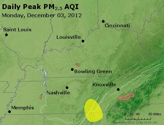 Peak Particles PM<sub>2.5</sub> (24-hour) - http://files.airnowtech.org/airnow/2012/20121203/peak_pm25_ky_tn.jpg