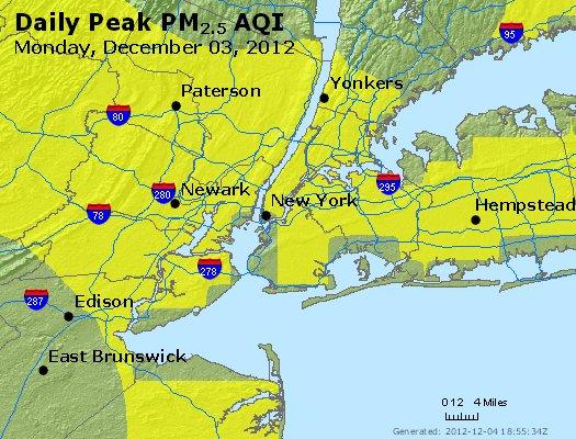 Peak Particles PM<sub>2.5</sub> (24-hour) - http://files.airnowtech.org/airnow/2012/20121203/peak_pm25_newyork_ny.jpg