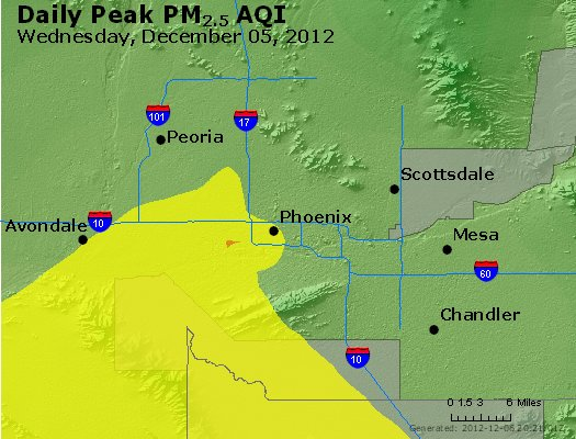 Peak Particles PM<sub>2.5</sub> (24-hour) - http://files.airnowtech.org/airnow/2012/20121205/peak_pm25_phoenix_az.jpg