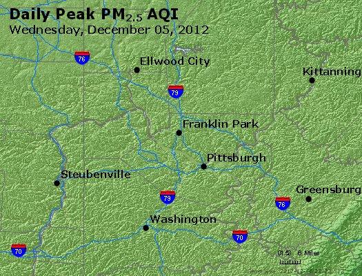 Peak Particles PM<sub>2.5</sub> (24-hour) - http://files.airnowtech.org/airnow/2012/20121205/peak_pm25_pittsburgh_pa.jpg