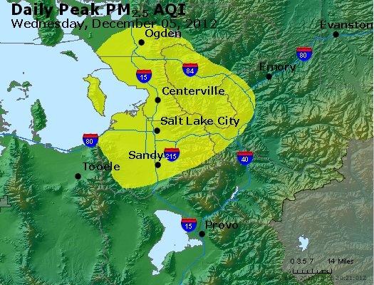Peak Particles PM<sub>2.5</sub> (24-hour) - http://files.airnowtech.org/airnow/2012/20121205/peak_pm25_saltlakecity_ut.jpg