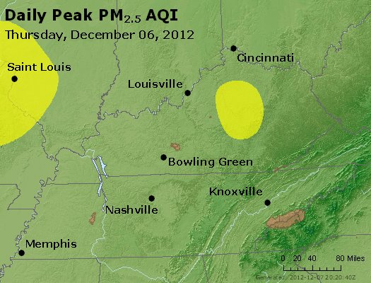 Peak Particles PM<sub>2.5</sub> (24-hour) - http://files.airnowtech.org/airnow/2012/20121206/peak_pm25_ky_tn.jpg