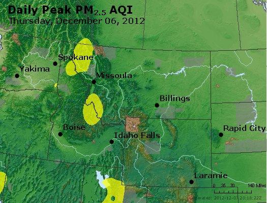 Peak Particles PM<sub>2.5</sub> (24-hour) - http://files.airnowtech.org/airnow/2012/20121206/peak_pm25_mt_id_wy.jpg