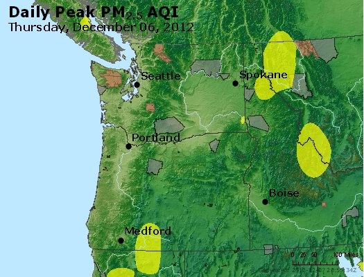 Peak Particles PM<sub>2.5</sub> (24-hour) - http://files.airnowtech.org/airnow/2012/20121206/peak_pm25_wa_or.jpg