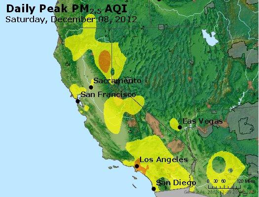 Peak Particles PM<sub>2.5</sub> (24-hour) - http://files.airnowtech.org/airnow/2012/20121208/peak_pm25_ca_nv.jpg