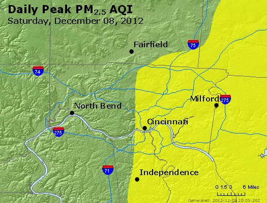 Peak Particles PM<sub>2.5</sub> (24-hour) - http://files.airnowtech.org/airnow/2012/20121208/peak_pm25_cincinnati_oh.jpg