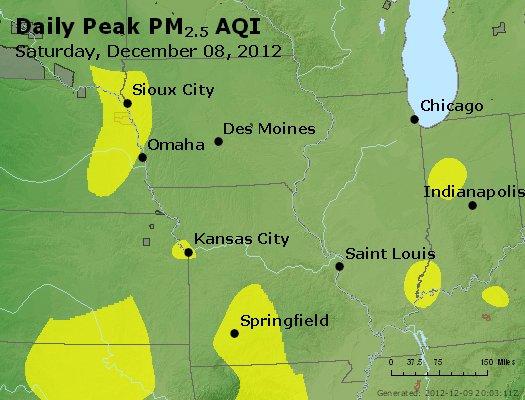 Peak Particles PM<sub>2.5</sub> (24-hour) - http://files.airnowtech.org/airnow/2012/20121208/peak_pm25_ia_il_mo.jpg