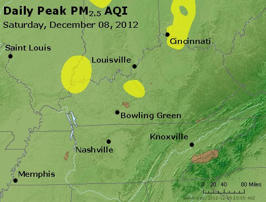 Peak Particles PM<sub>2.5</sub> (24-hour) - http://files.airnowtech.org/airnow/2012/20121208/peak_pm25_ky_tn.jpg