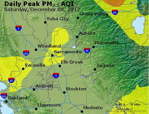 Peak Particles PM<sub>2.5</sub> (24-hour) - http://files.airnowtech.org/airnow/2012/20121208/peak_pm25_sacramento_ca.jpg