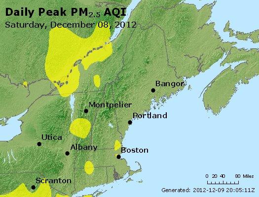Peak Particles PM<sub>2.5</sub> (24-hour) - http://files.airnowtech.org/airnow/2012/20121208/peak_pm25_vt_nh_ma_ct_ri_me.jpg