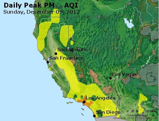 Peak Particles PM<sub>2.5</sub> (24-hour) - http://files.airnowtech.org/airnow/2012/20121209/peak_pm25_ca_nv.jpg